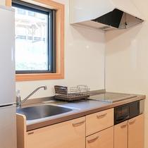 *【コテージ/キッチン一例】食材を持ち寄りコテージ内調理可能!
