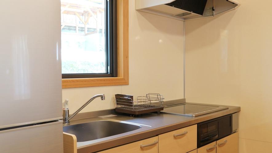 *【コテージ/キッチン】食材を持ち寄りコテージ内調理可能です。
