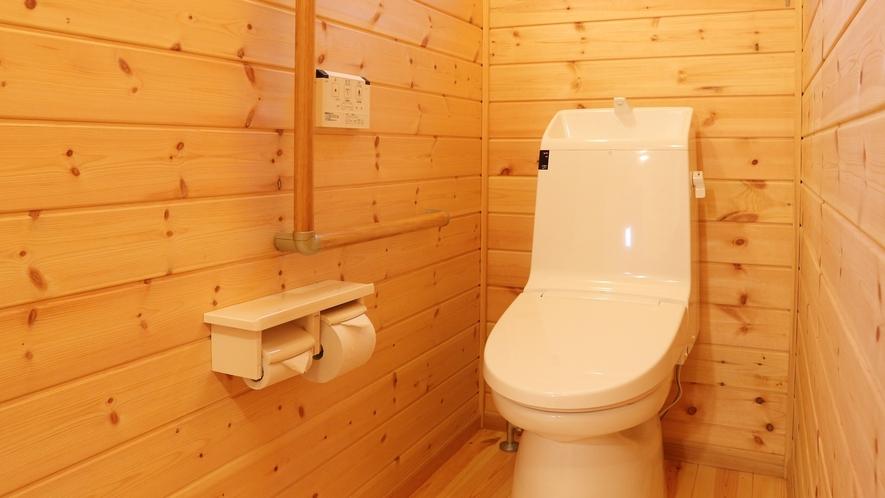 *【コテージ/洗浄機能付トイレ】客室にはウォシュレット付きのトイレを完備しております。