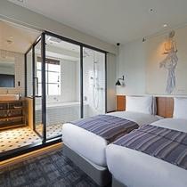 ハリウッドツイン(17.56㎡)ベッド幅100cm
