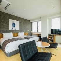 ペントハウス(37.17㎡)ベッド幅120cm【高層階】テラス付