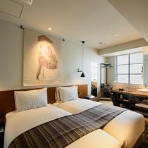 スーペリアハリウッドツイン(20.70㎡)ベッド幅100cm