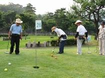徒歩5分の場所にあるマレットゴルフ場。老若男女問わずプレーできます!