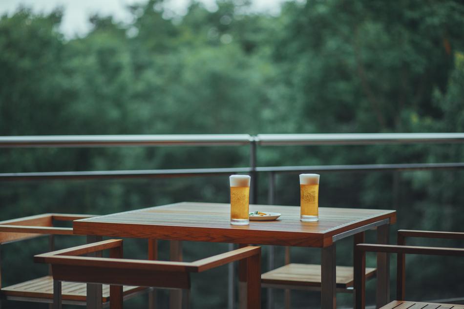 オールインクルーシブだから滞在中自由に飲み物も楽しめる。