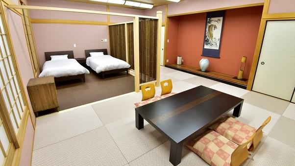 ◆【特別室】【禁煙】琉球畳を使用した和室と洋室のお風呂付部屋