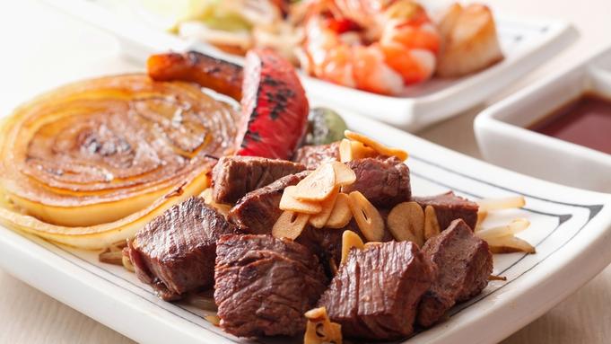 まちのステーキハウス・ぐりるエイトで味わう淡路牛や地産魚介の鉄板焼ディナー(二食付)