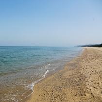 【慶野松原海水浴場】日本の渚百選、快水浴場百選に選ばれている西海岸のビーチ(車20分)