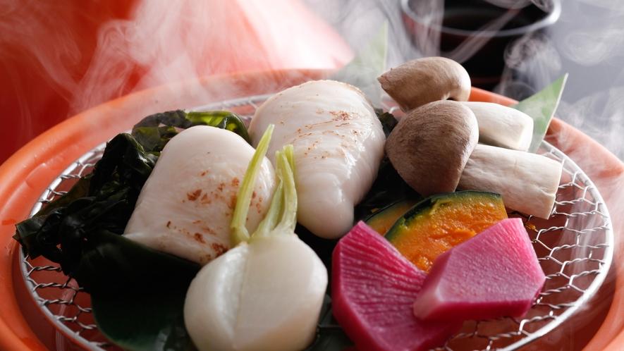 白子と冬野菜のバプール(冬メニュー・夕食イメージ)