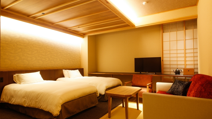 モデレート和室Cベッド付(39平米)(一例)※客室内の間取りはフォトギャラリーをご参照ください