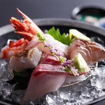 旬魚のお造り取合せ(夕食イメージ)