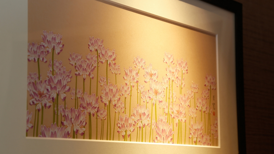 館内の至る所で和の優しさ溢れる絵画をご覧いただけます