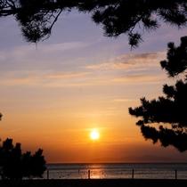 【慶野松原海水浴場】日本の夕陽百選にも選ばれている西海岸のビーチ(車20分)