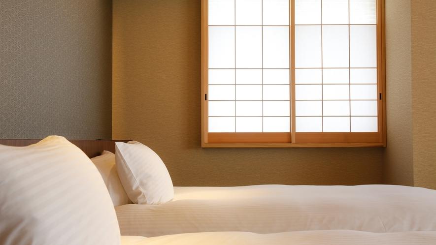 和洋室、和風ツイン、和風ダブルなど、コンパクトながらも居心地の良い全8タイプ24室のラインナップ