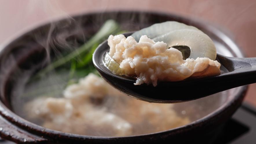 沼島産鱧すき鍋 淡路玉ねぎとともに(夏メニュー・夕食イメージ)