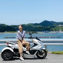 【カムカムレンタルサービス】3輪バイクのトライクは普通免許でOK。レンタカーも有(徒歩4分)