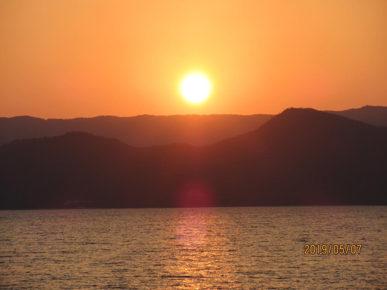 ブルーオーシャンからの夕陽