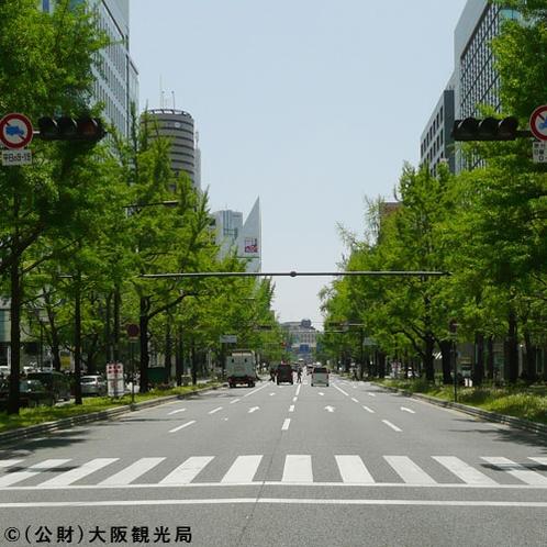 【御堂筋】大阪のメインストリート!冬にはイルミネーションが!