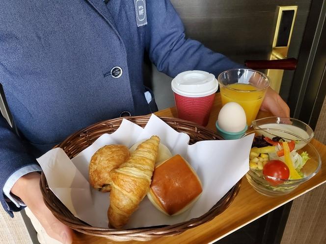 【朝食ルームサービスプラン】お部屋までお持ち致します。