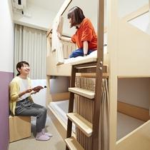 【2段ベッド】兄弟姉妹のように仲の良い友達同士で楽しく泊まる♪