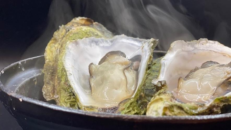 牡蠣の土鍋蒸し焼き