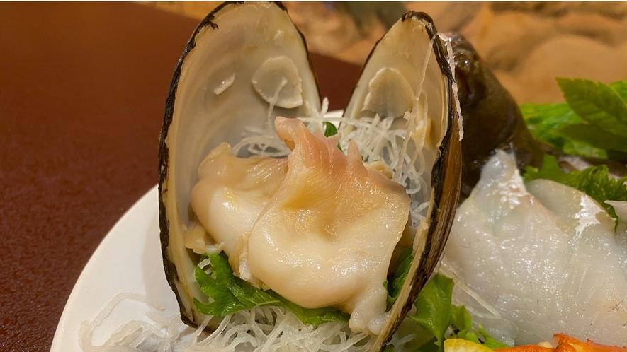 ホッキ貝のお造り