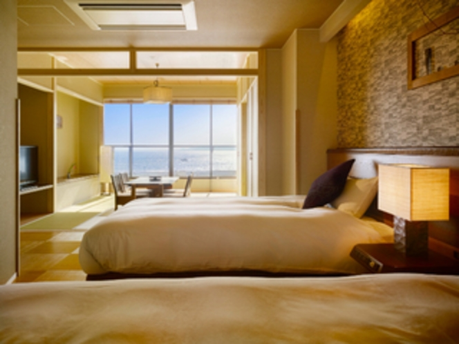 【別邸】屋上露天風呂&テラス付き特別室(バリアフリー仕様)ベッド1