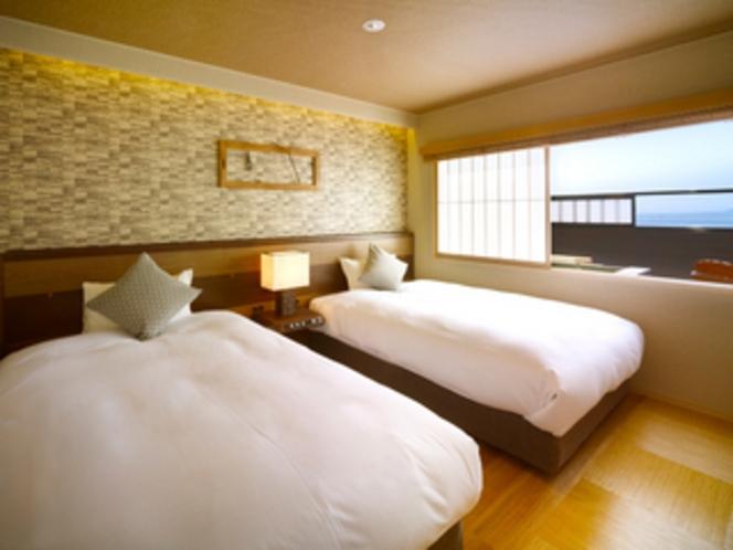 【別邸】屋上露天風呂&テラス付き特別室(バリアフリー仕様)ベッド2