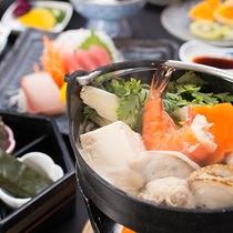 *【夕食(イメージ)】港町沼津ならではの新鮮な素材の味を楽しめるお料理に舌鼓!