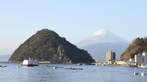 *沼津から見える富士山