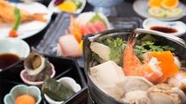 *【夕食一例】港町沼津ならではの新鮮な素材の味を楽しめるお料理に舌鼓!