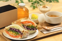 サンドイッチ朝食(ベジタブル)