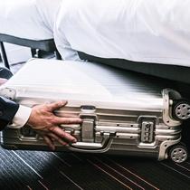 <イメージ>機能性を追求した客室では、コンパクトなスペースを有効に活用。スーツケースも楽々収納
