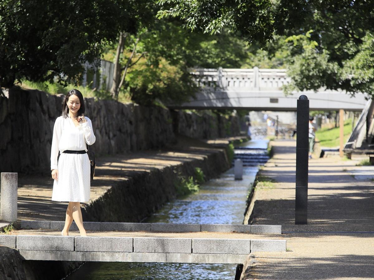【周辺観光】堀川の遊歩道 さまざまなイベントが開催されます。