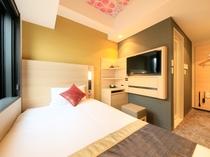 【シングル】家具や間取りに工夫を凝らし、シンプル且つ使い勝手の良さに配慮したお部屋です。