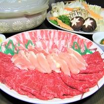おおいた特産三種肉盛り鍋(みそ味)