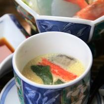 【夕食】だしの効いた茶碗蒸し