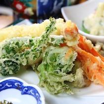 【夕食】季節の天ぷら