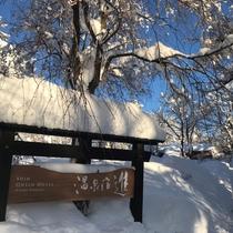 冬の温泉宿「進」
