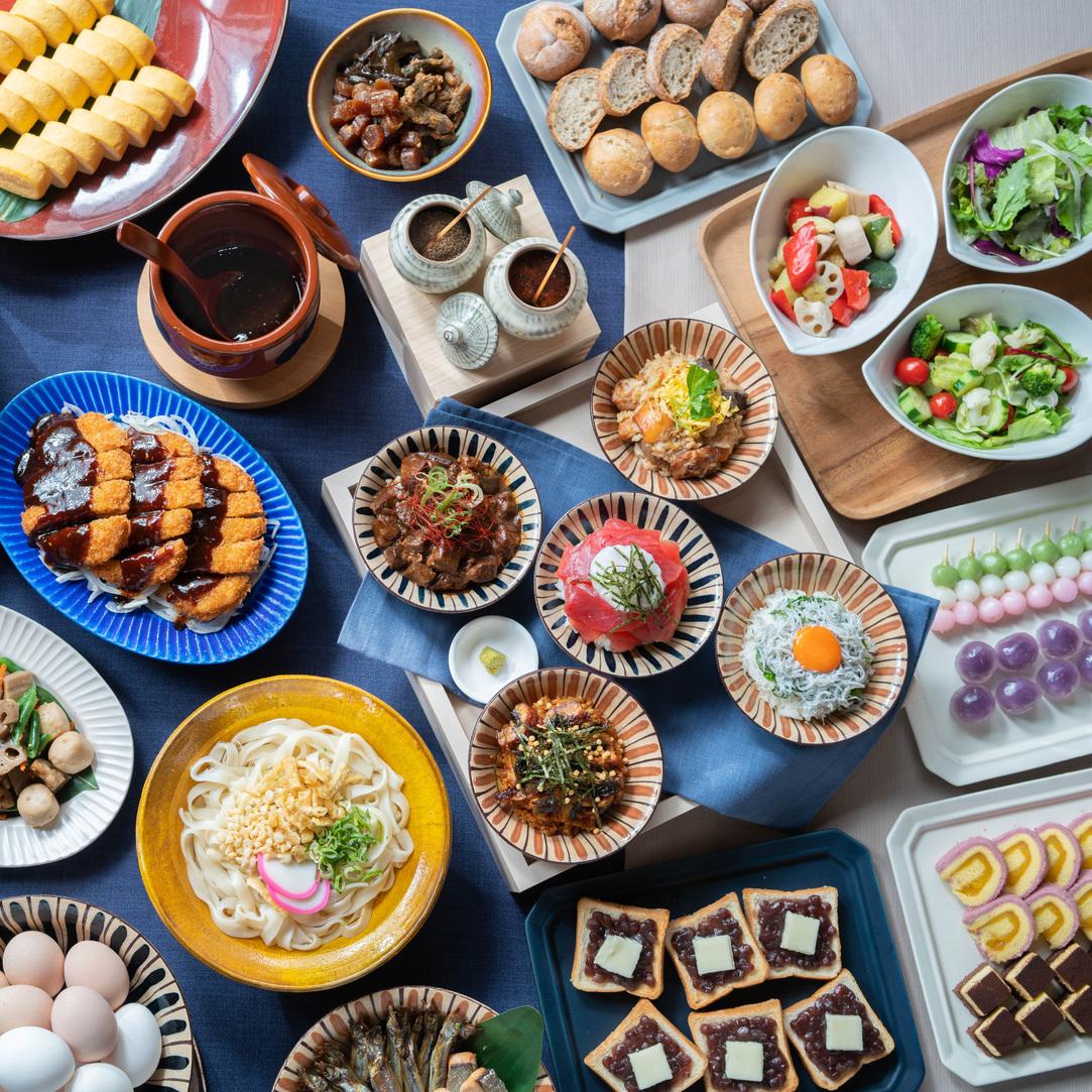【朝食】名古屋めし中心に和洋ビュッフェスタイル