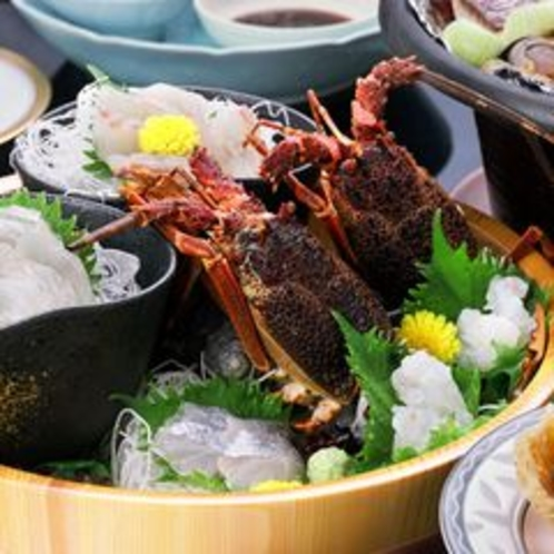 海鮮宝楽焼会席のお造り
