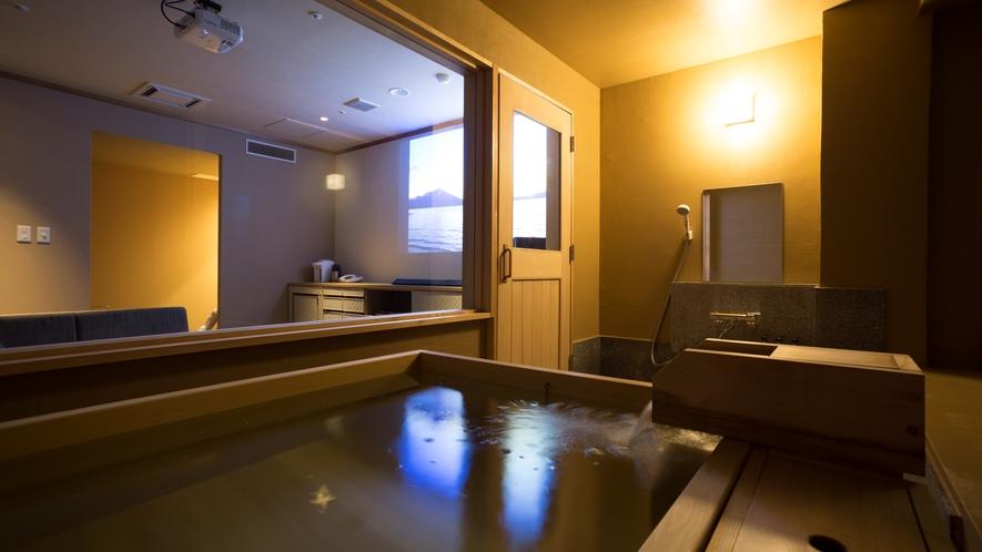 【温泉&シアター付客室60平米(山側)】