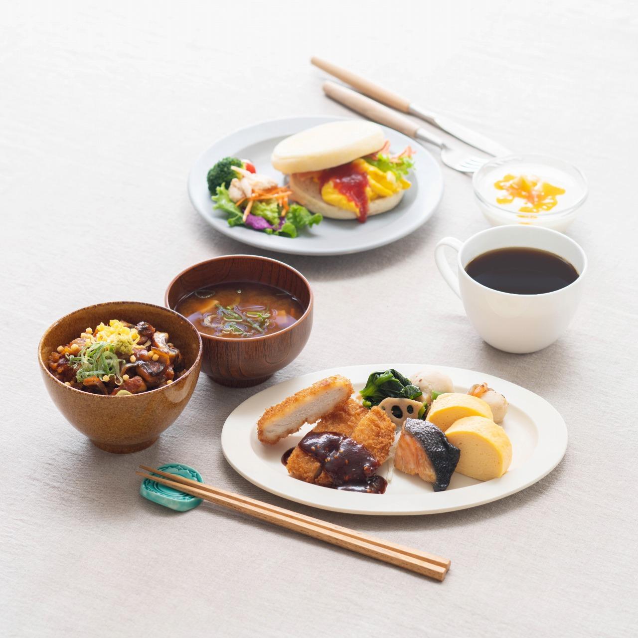 ビュッフェスタイルで、定番の朝ごはんや一度は食べておきたい名古屋めしもお楽しみいただけます。