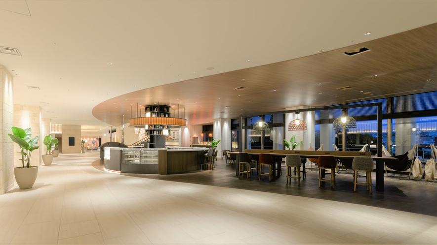 【GOURMET BAR】ノボテルのシグニチャーカフェ。各アルコールからカフェタイムまでご利用下さい