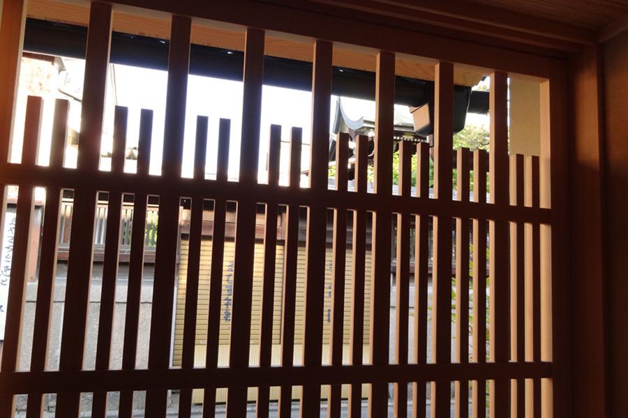 1階 格子から外の景色