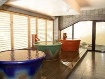大浴場内陶器風呂