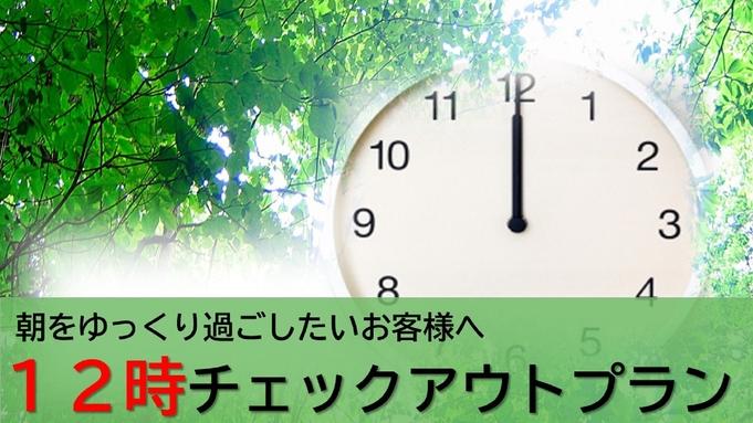 (素泊り)レイトチェックアウトプラン ≪通常10時のチェックアウトがお昼12時までに!≫