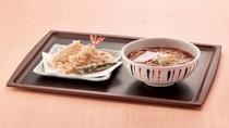 朝食 天ぷら蕎麦(温)
