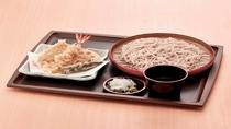 朝食 天ぷら蕎麦(冷)