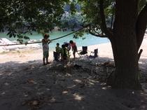 美濃田の淵キャンプ村山あいのビーチ