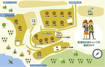 キャンプ村 イラストマップ